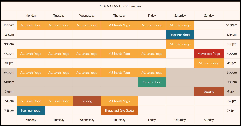 class schedule sivananda yoga vedanta center nyc yoga new york