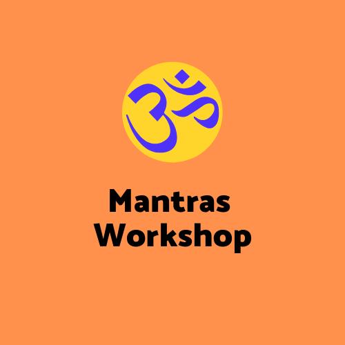 """<div style=""""line-height: 1.3; color: #FF9031; font-family: catamaran;"""">Meditation & Mantras Workshop</div>"""